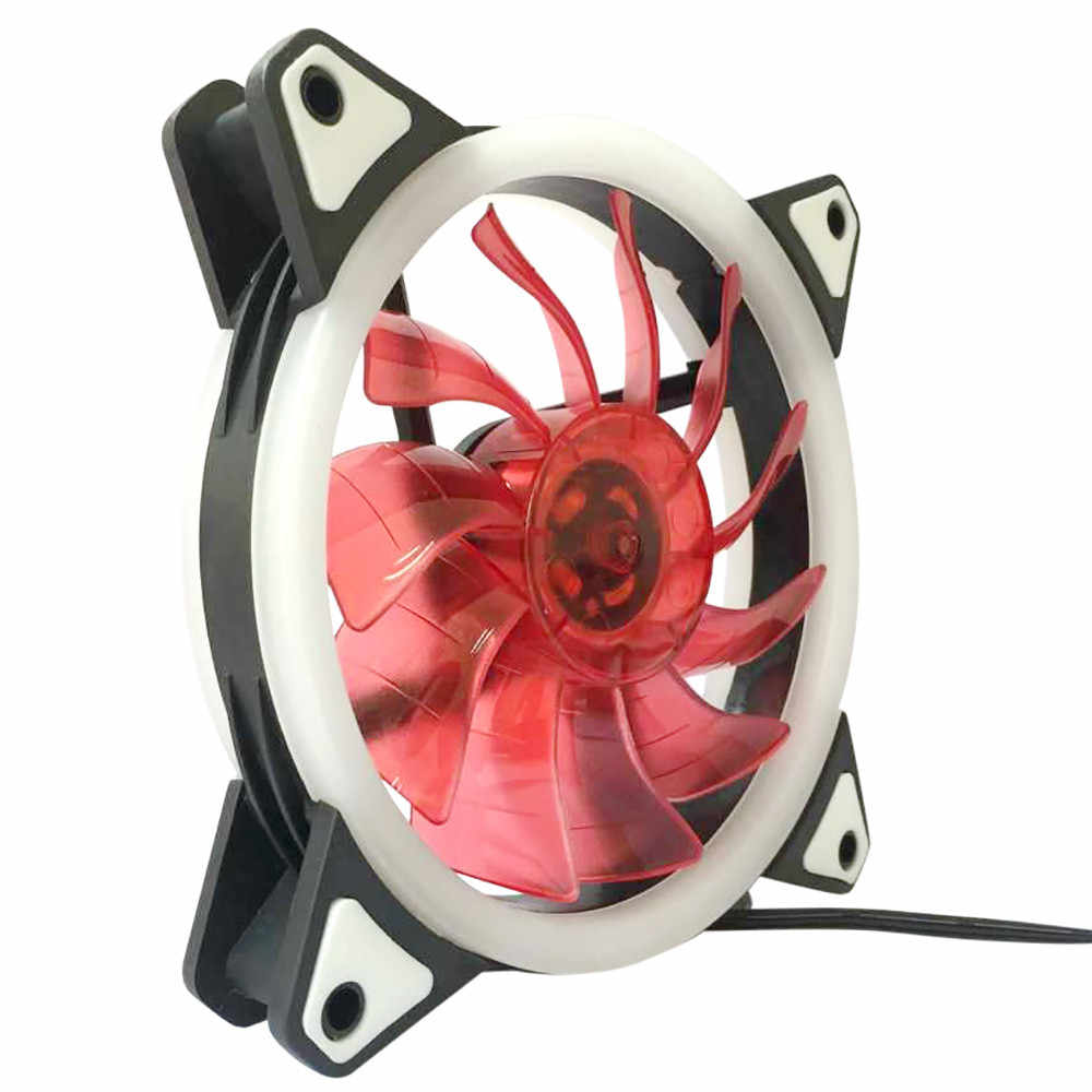 12*12 Cm Komputer Case PC Cooling Fan Menyesuaikan LED 120 Mm Tenang Cooler # T2