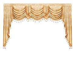 Gold Farbe Europäischen Königlichen Luxus Stil Valance Vorhänge für Wohnzimmer Fenster Vorhänge für Schlafzimmer für Küche