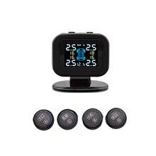 Mini système de surveillance de la pression des pneus de voiture, TPMS, écran LCD numérique couleur, système dalarme de sécurité automatique, capteur externe sans fil