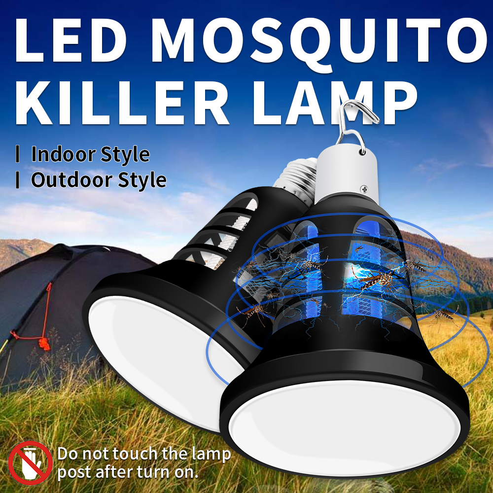 Mosquito Killer Lamp Led Anti Mosquito Trap E27 220V Led Pest Control Light 110V Night Lights USB 5V Outdoor Camping Lamp 2 Mode