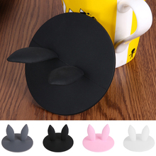 Cup-Cover Silicone Cute Water-Lid Milk Coffee Anti-Dust Leakproof 1 1PCS Airtight Rabbit-Ears-Cap