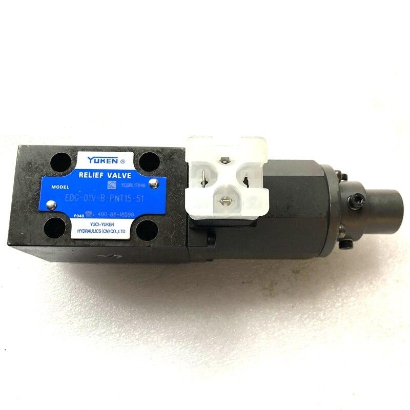 Válvula de alivio de EDG-01V-B-PNT15-51 EDG-01V-B-1-PNT22-5119 válvula hidráulica YUCI-YUKEN EDG-01V-C-1-PNT11-5004-R Válvula de Osmosis inversa de 4 vías de 1/4