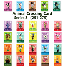 Series 3 (251 to 275) Animal Crossing Card Amiibo locks nfc Card Work for NS Games Series 3 (251 to 275)