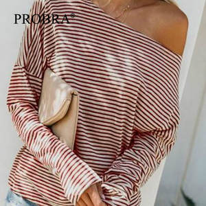 Hot-Product Tshirt-Pregnancy Kleding Long-Sleeve Women Maternity Casual XL Stripe Tees