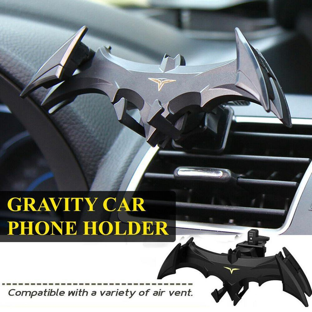 Car Air Vent Phone Mount Bat Shape Hands Auto Phone Holder Car Free Gravity Anti-Scratch Cradle Accessories