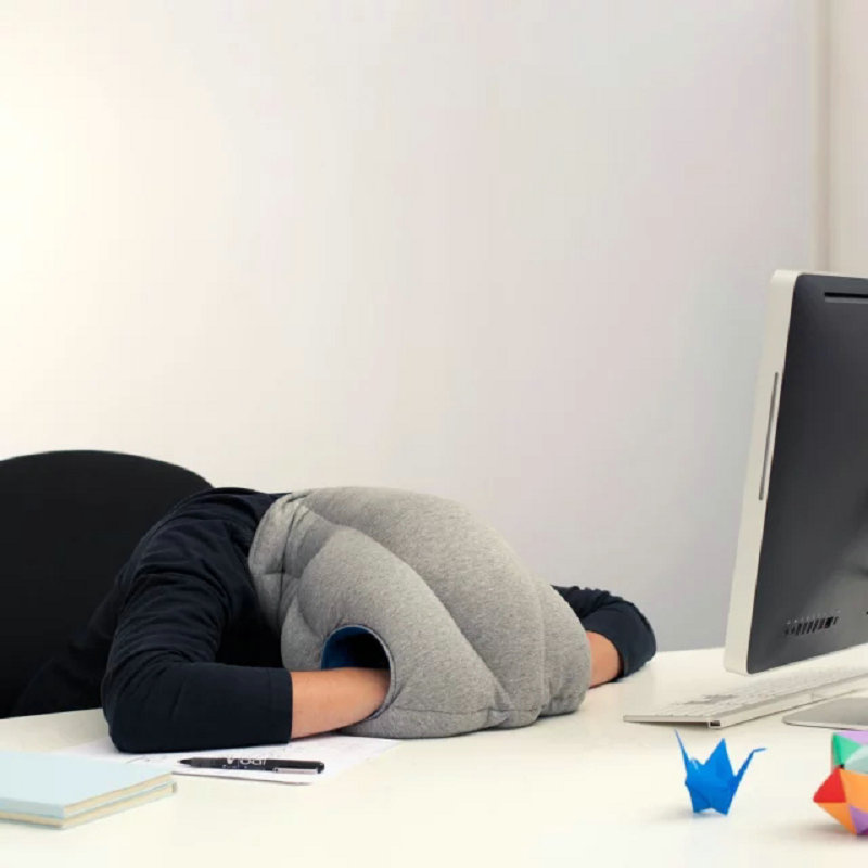 Nap Pillow  Seat Cushion Headrest Travel Neck Pillow Ostrich Nap Pillow