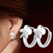 NEHZY 925 ayar gümüş yeni kadın takı moda küpe yüksek kalite retro beş yapraklı çiçek yaprak çim pop