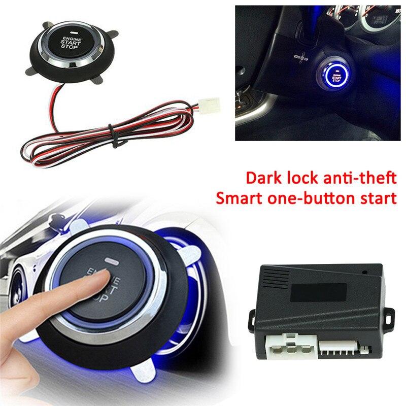 DC12V Car SUV Keyless Entry Engine Ignition Start Switch Power Starter Push Button Smart Car Engine Alarm Finger Push Starter