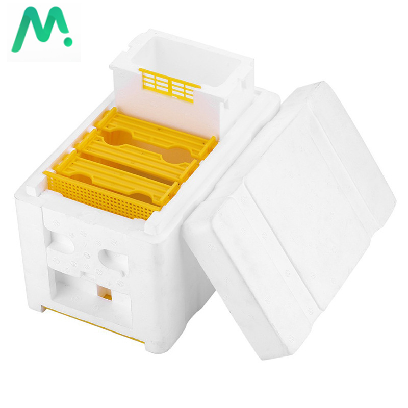 1 Set Queen Bee Rearing Mating Beehive Beekeeping Tools Foam Beehives Nuc Harvest Pollination BeesHive Box Beekeeper Suppliers