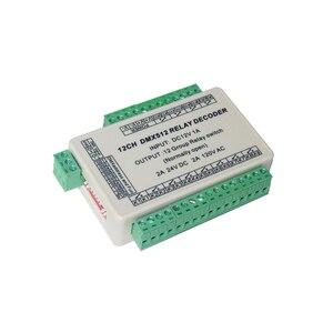 Image 2 - 12 kanałowy łącznik przekaźnikowy kontroler led sygnału dmx512, wyjście przekaźnikowe, tylko kontrola sygnału, nie można użyć regulacja mocy
