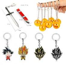 Dragon Ball Z Torankusu брелок в виде меча 3D 1-7 звезд ПВХ Goku Dragon Ball Брелоки для ключей аниме брелоки