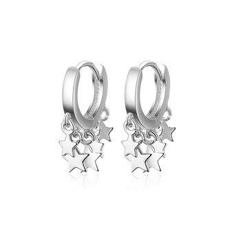 2019 New Trendy Star Tassel Earrings For Women 925 Sterling Silver oorbellen pendientes S-E752