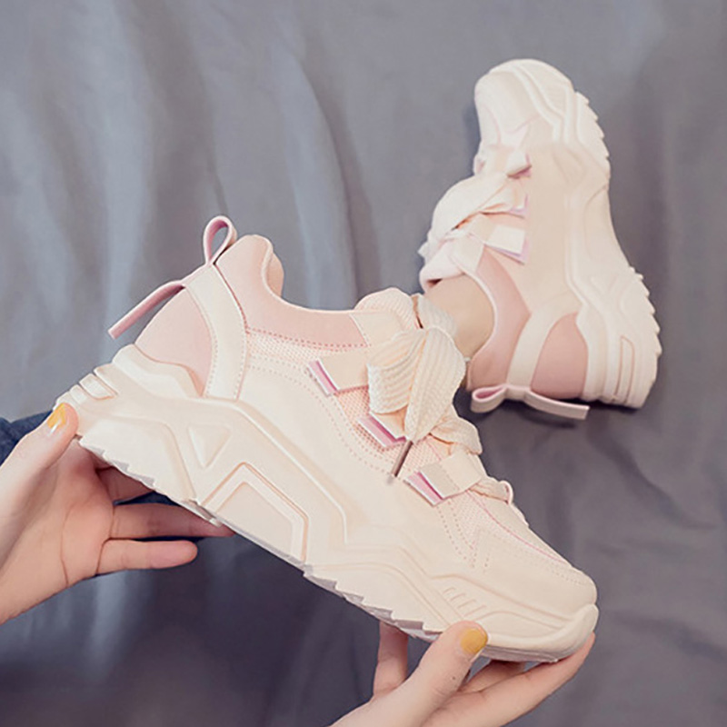 Chunky Sneakers Women Shoes 2020 New Women Vulcanize Shoes Harajuku Platform Sneakers Walking Shoes Women Sneakers Trainers