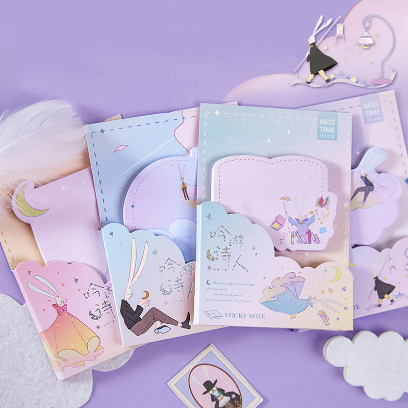 30Pcs Kawaii Fairy Tale Memo Pads Cute Sticky Notes Note Paper For Kids DIY Stationery School Office Supplies