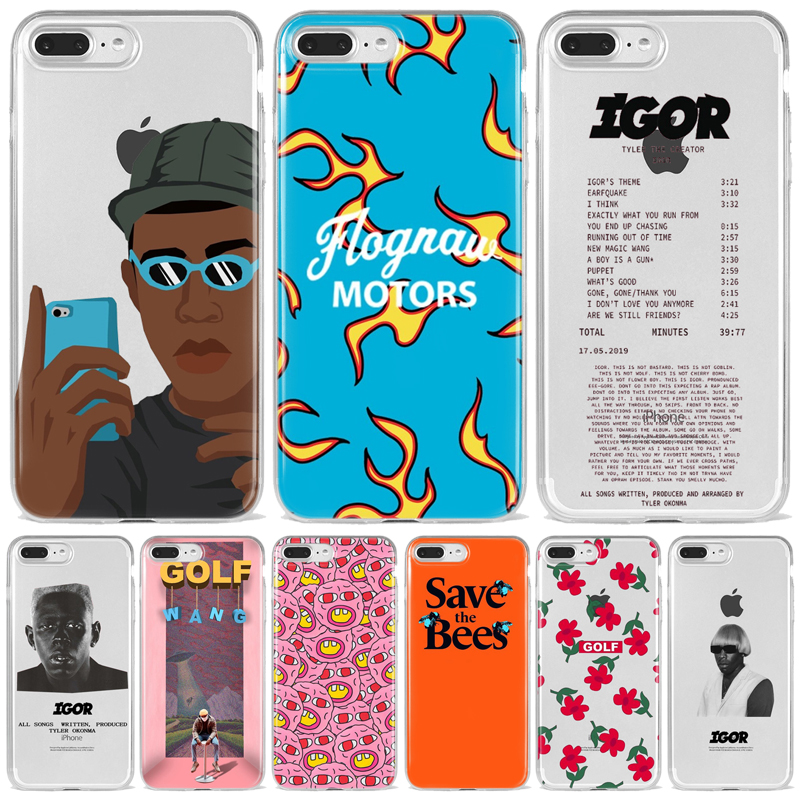 Tyler the creator Golf IGOR bees Silicone Soft TPU Back Phone Case For iPhone 8 7 6 6S Plus X XS MAX 5 5S SE XR 11 Pro Max Funda