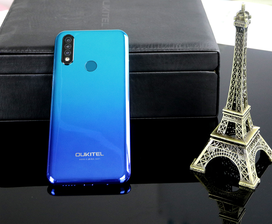 OUKITEL C17 Pro Smartphone 4G RAM 64G ROM 6.35'' Android 9.0 Octa Core 4G LTE Triple Camera Face ID Fingerprint Mobile Phone