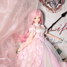 1/4 BJD Blyth doll Pink hair mechanical joint Body With makeup, Including scalp, eyes, clothes reborn girls ICY(China)