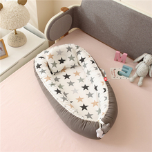 Baby Nest Cot Portable Crib Travel Bed Infant Toddler Cotton Cradle Outdoor For Baby Foldable Bed Breathable ZT59