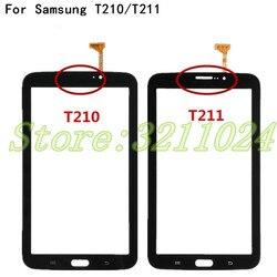 Najwyższej jakości dla Samsung Galaxy Tab 3 7.0 SM T210 SM T211 T210 T211 ekran dotykowy szkło digitizer Panel wymienny czujnik części w Panele dotykowe do telefonów komórkowych od Telefony komórkowe i telekomunikacja na