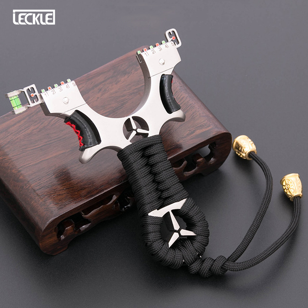 Slingshot Slingshot Bow Stainless Steel Powerful Catapult Hunting Fishing With Hemp Rope Handle For Outdoor Baseball Metal Type
