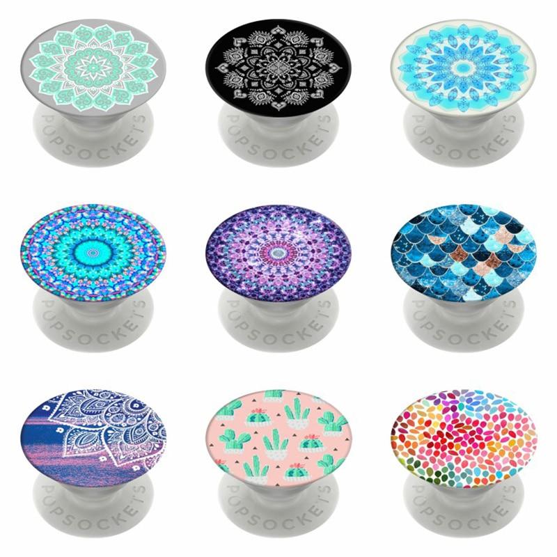 Mandala Popsoket Beautiful Flower Pops Phone Holder Popsocet Round Pocket Socket Stand Finger Ring Pipsocket Round попсокет