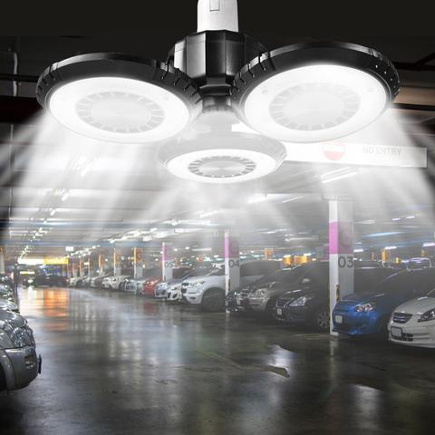 60 w conduziu a luz da garagem e27 dobravel deformable alta baia lampada super brilhante