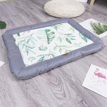Роскошный Коврик для домашних животных ледяной Шелковый коврик