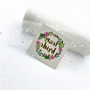Image 5 - 複合販売 (10 + 1) 個チーム花嫁は独身花嫁パーティータトゥーステッカー装飾マリアージュブライダルシャワー