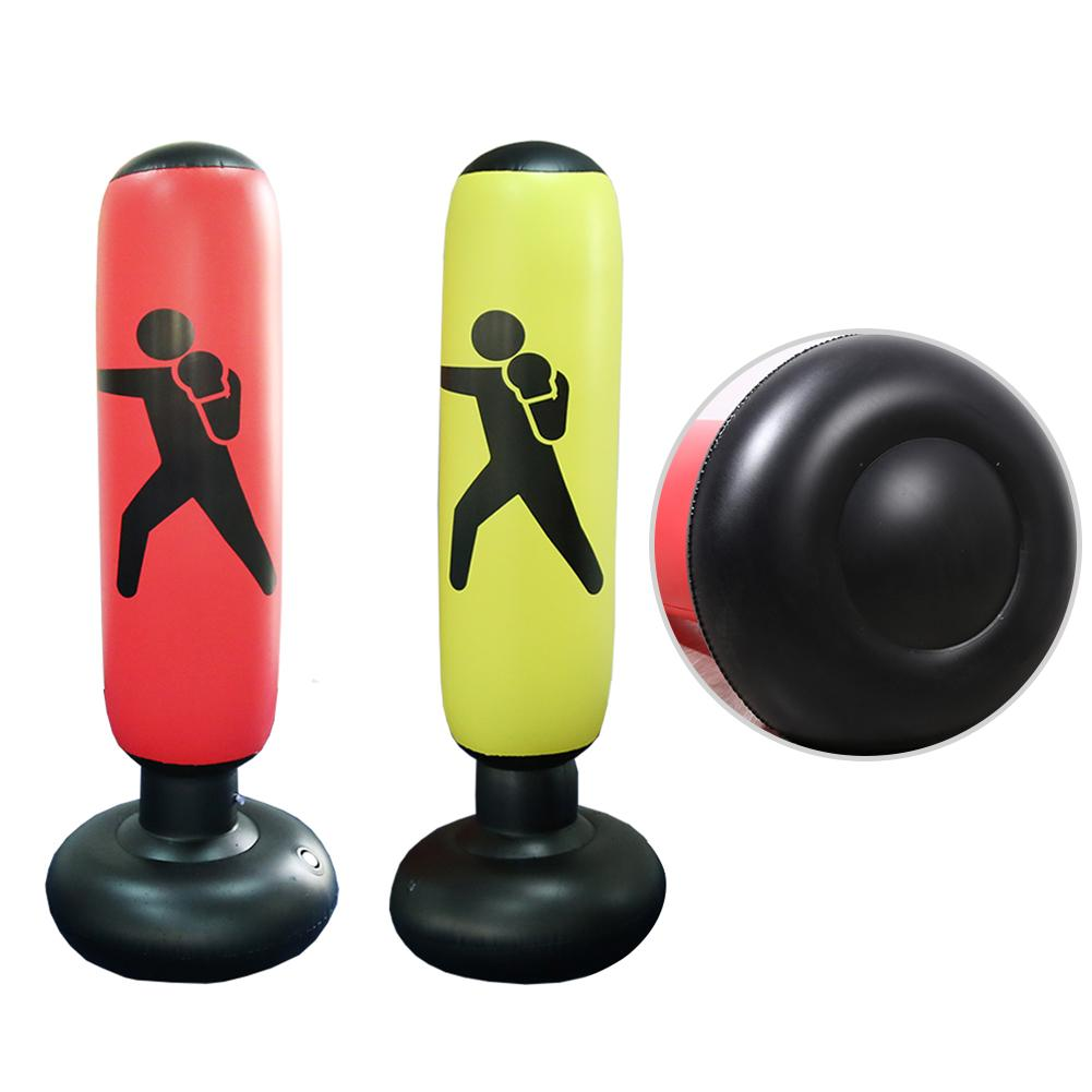 Inflatable Boxing Pole Tumbler Fitness PVC Fight Column Punching Bag Heavy Inflatable Tower Bag De-Stress Boxing Target Bag