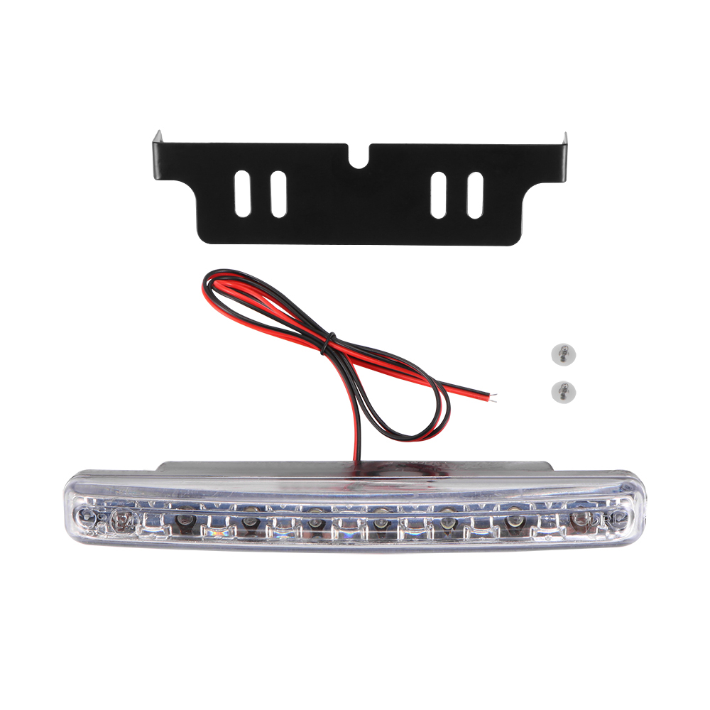 2019 New Hot 1PC 6000K Car Led Daytime Driving Running Light 8LED DRL Car Fog Lamp Waterproof White Light DC 12V