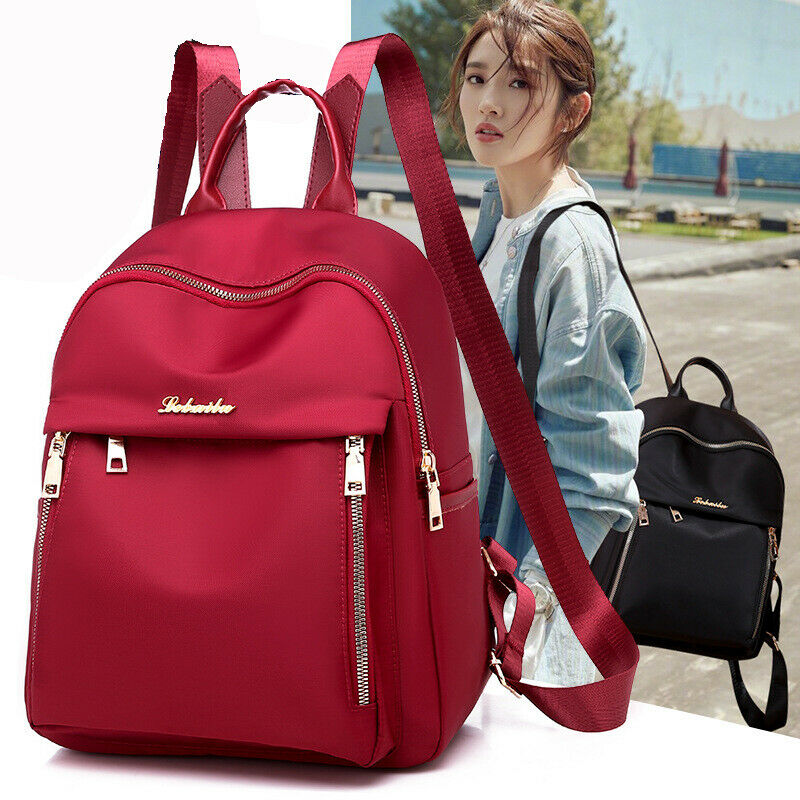 2019 New Fashion Women's Oxford Cloth Backpack Anti-Theft Rucksack School Hot Sale Shoulder Bag Black Red