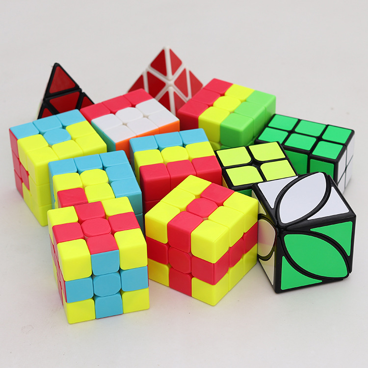 New Qiyi Mini Cubo Magico Unicorn Pudding IVY Lvy Bumpy Little Red Hat Magic Cube Set Speed Puzzle Education Toys For Kids Gifts