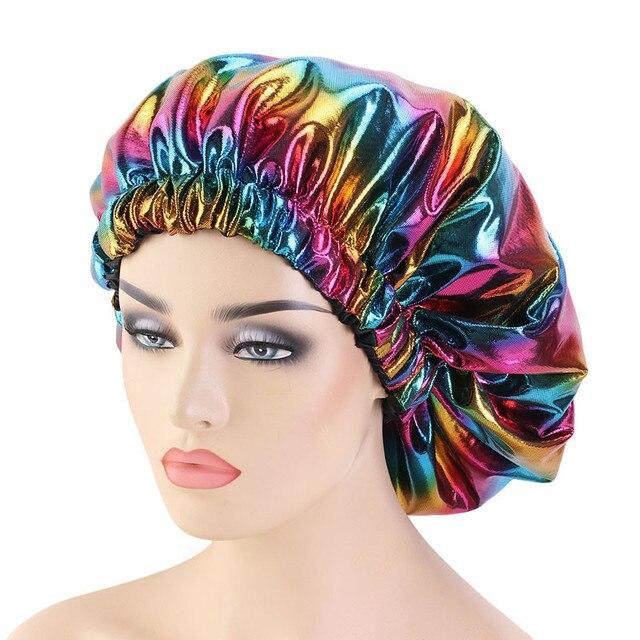 двухслойная шелковая шапочка большого размера для женщин головной фотография