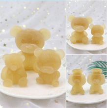 3D Teddy Bear Shape Animals Silicone Mold DIY Christmas Cake Candy Chocolate Mousse Decoration Baking Tool Moulds