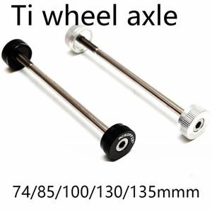 74 85 100 130 135mm Titanium Ti bike hub axle for Brompton folding bike quick release hub accessories(China)