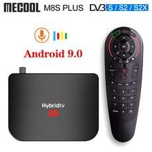 Mecool M8S زائد S2 T2 Hybridtv الذكية التلفزيون مربع الروبوت 9.0 DVB S2 DVB T2 الأقمار الصناعية استقبال Amlogic S905X2 RAM 2GB ROM 16GB التلفزيون مربع