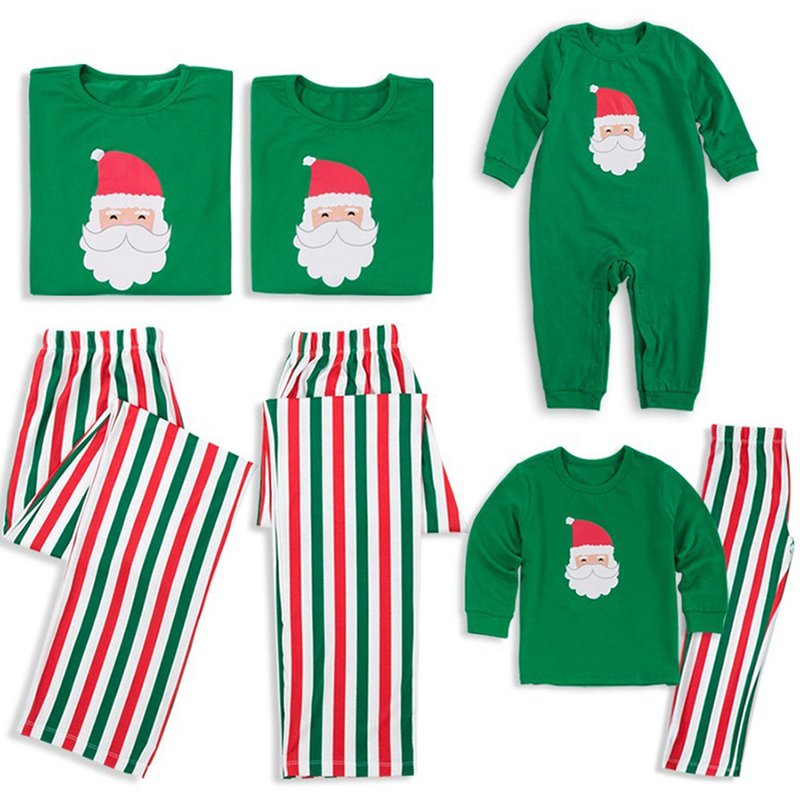 New Hot Sale Family Matching Christmas Pajamas Sets Kids Adult Xmas Sleepwear Nightwear Clothing Family Funny Santa Clothes Set