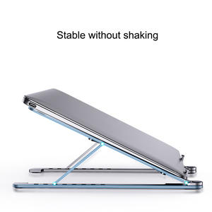 Laptop-Stand Cooling-Rack Portable-Holder Desktop Folding Angle Adjustable Aluminum-Alloy