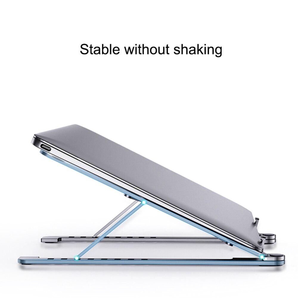 Estante de refrigeración plegable de ángulo ajustable de aleación de aluminio de escritorio portátil titular de oficina Universal antideslizante soporte de ordenador portátil
