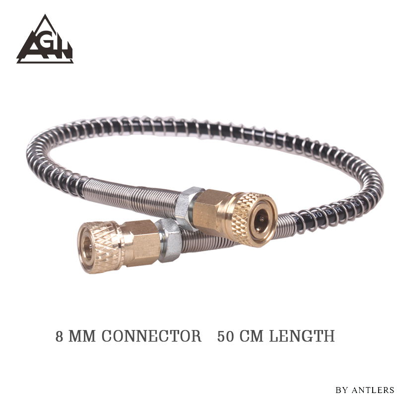 High Pressure Hose Airgun Paintball Airsoft 63Mpa/9000PSI  8mm Quick Connector For PCP Hand Pump M10*1 With 2x Female Connector