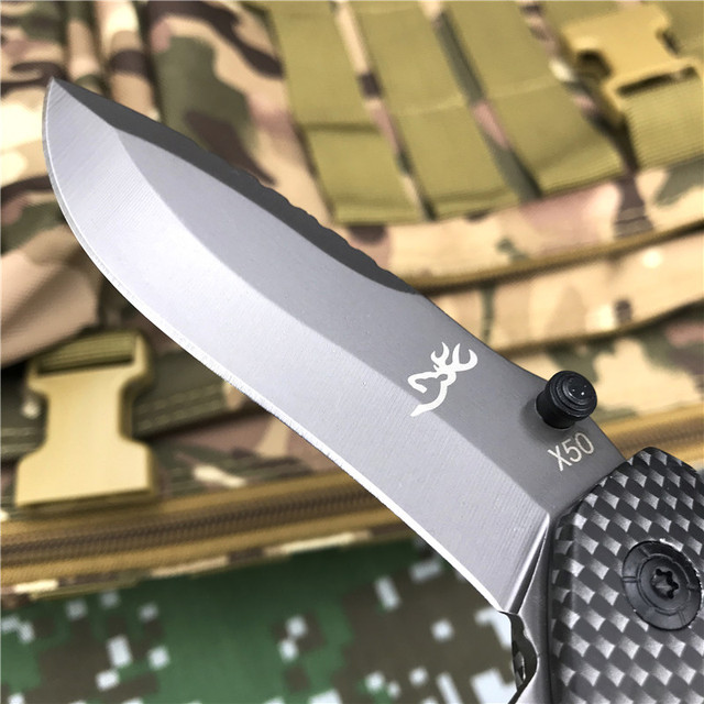 Browning Folding knife EDC Pocket knives Outdoor Portable High Hardness Hunting Camping tactical Multitool survival self defense 2