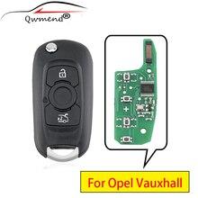QWMEND für Opel Vauxhall Astra K 2015 2016 2017 Smart Auto Schlüssel 433mhz PCF7961/46 Chip für Opel schlüssel 3 Tasten Auto Remote Key