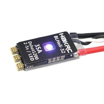 HAKRC BLHeli_32 Bit 35A 2-5S ESC Built-in LED Support Dshot1200 Multishot for FPV RC Drone Aircraft Part Accessory
