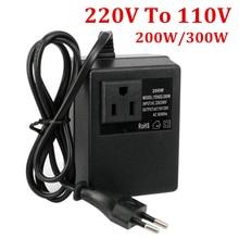 Convertisseur de tension Portable 200W, 300W, 220V vers 110V, prise ue