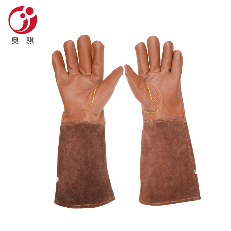 Sheepskin Gloves Garden Working Gloves Cut-Resistant Stab-Resistant Electric Welding Tool Gloves Manufacturers Direct Selling Cr