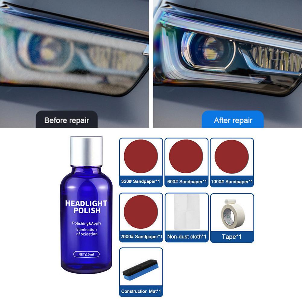 Headlight Polish Liquid Cars Restoration Agent Scratch Repair Kit Swirl Remover Hardness Cars Restoration Tool
