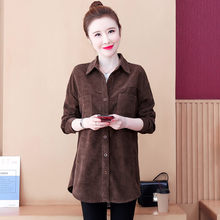 Jackets Solid Full Coats Shirts Turn-Down-Collar Spring Oversize Basic Outweart Aq196