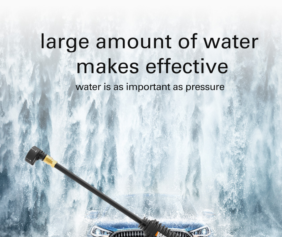 Large amount of water makes efficent