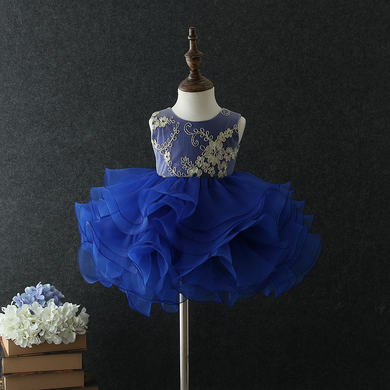 CHILDREN'S Full Dress Children Princess Tutu 1-5-Year-Old Baby Wedding Dress A Year Of Age Banquet Stage Performance Formal Dres