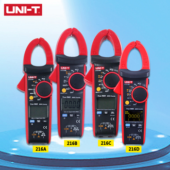UNI-T UT216A/UT216B/UT216C/UT216D 600A True RMS Digital Clamp Meters Auto Range AC/DC Voltage Current Freq Temp Tongs Testers